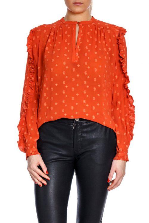 Orange eller ecru viskose bluse Munthe - annie