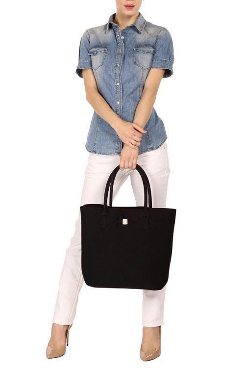 Black 'Popstar' shopper Save My Bag - popstar black 320x330x190 mm