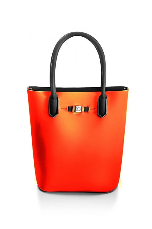 Bonitas 'Popstar' shopper Save My Bag - popstar bonitas bright orange 320x330x190 mm