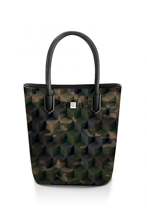 Camouflage green 'Popstar' shopper Save My Bag - popstar camouflage green 320x330x190 mm