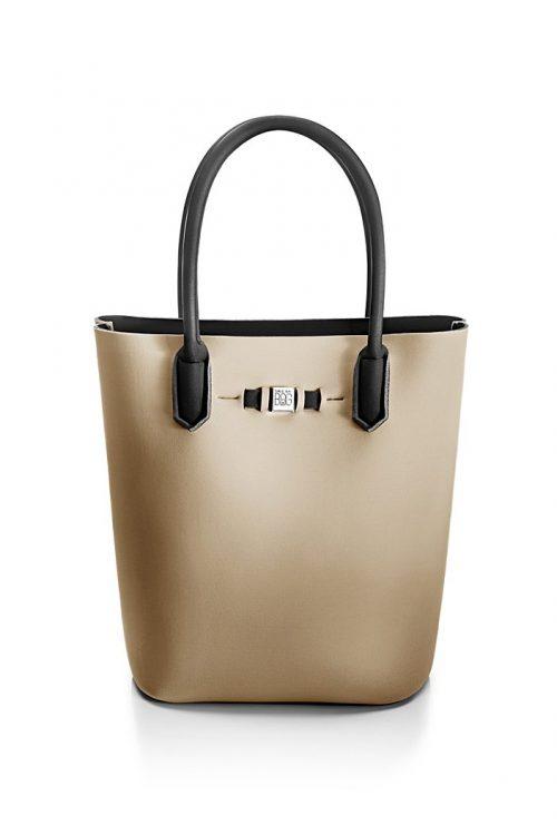 Mosiaco 'Popstar' shopper Save My Bag - popstar mosaico beige 320x330x190 mm