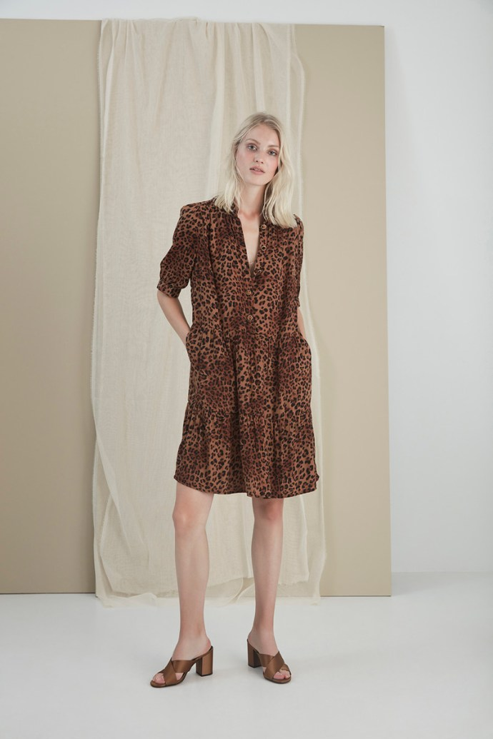 Brown leopard kjole Gestuz - 3238 jane gz dress