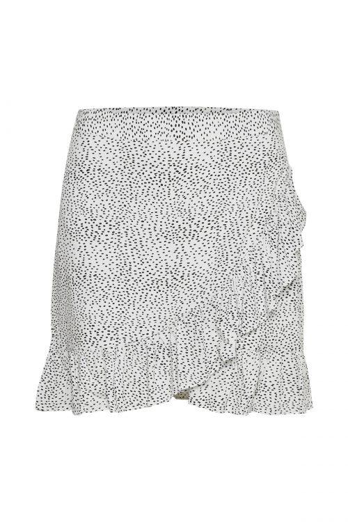 Hvitmønstret skjørt Gestuz - 3369 cathrin gz short skirt