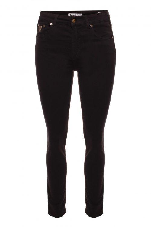 Sort fløyelsmyk 'Celia' bukse med høyt liv Lois Jeans - Celia lea soft L32 eller L34 (som vist her)