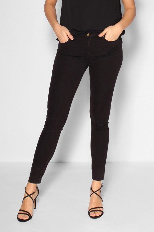 Nytt parti av smal bestselger! Sort fløyelsmyk 'Celia' bukse med høyt liv Lois Jeans