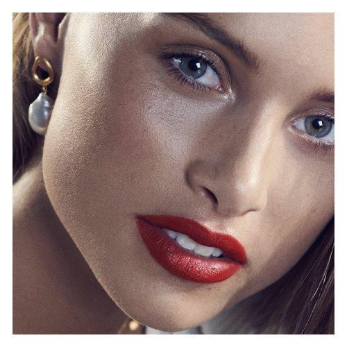 Gullforgylt øredobb med perle Enamel Copenhagen - earring Baroque pearl