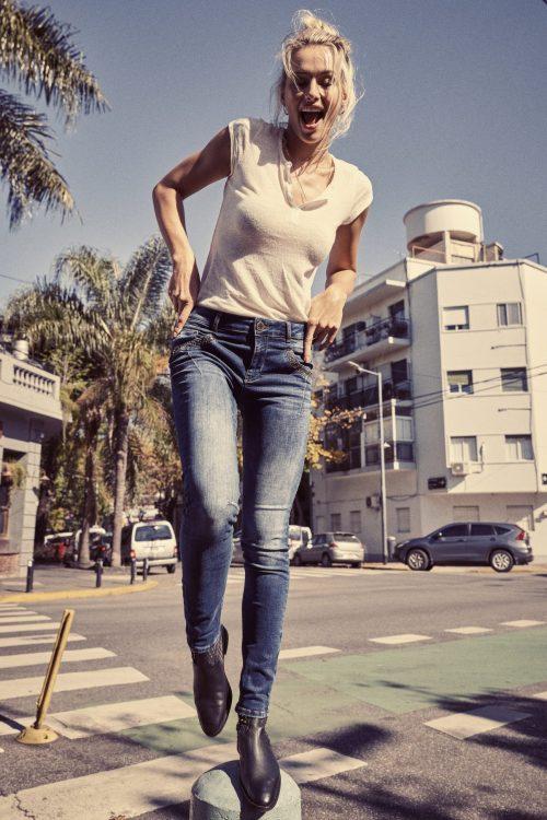 Blue denim jeans med detaljer Mos Mosh - 129110 naomi trock jeans