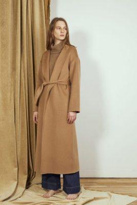 Camel cashmere/ull kåpe med belte Cathrine Hammel - 1439 doubleface wrap coat