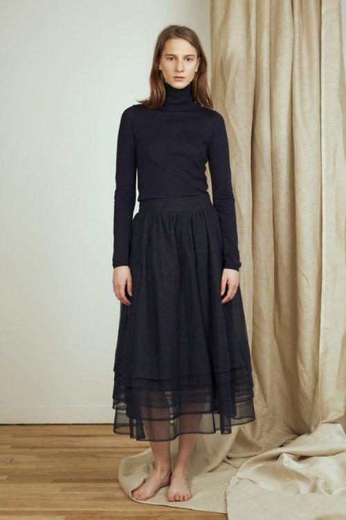 Sort langt tyllskjørt Cathrine Hammel - 1441 multiple layers skirt