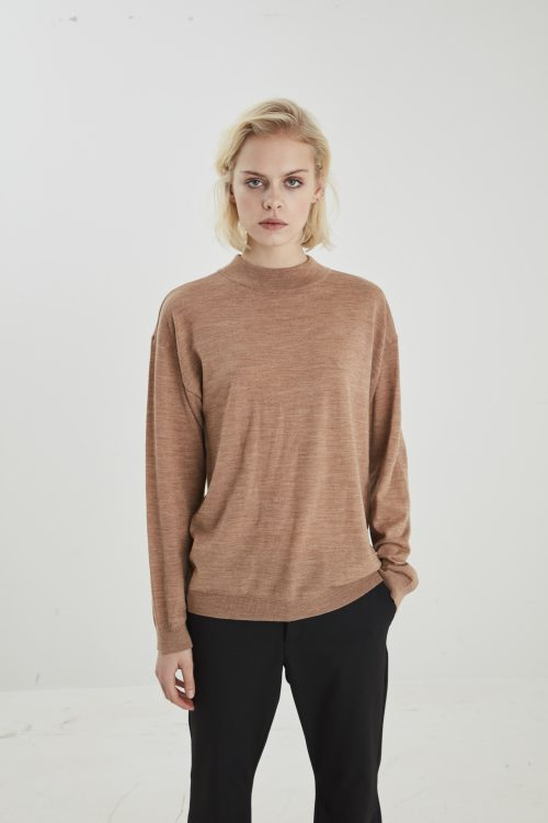 Light grey eller sort genser Gestuz - merina pullover 2808