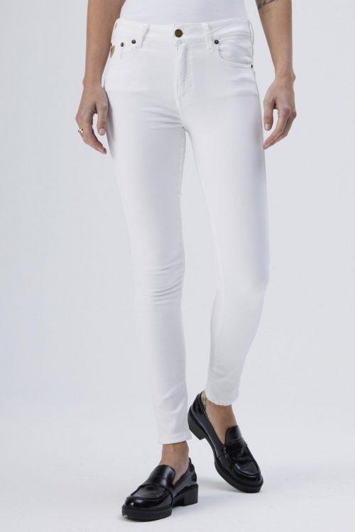 Hvit eller korallorange smal jeans Lois - celia judith flow L32