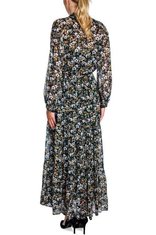 Sortgrønnmønstret viskose maxikjole Munthe - dingo dress