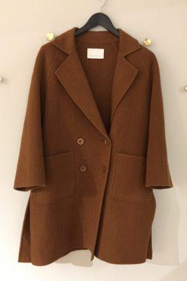 Cognac kort ullkåpe One & Other - eva coat 80ull20pol