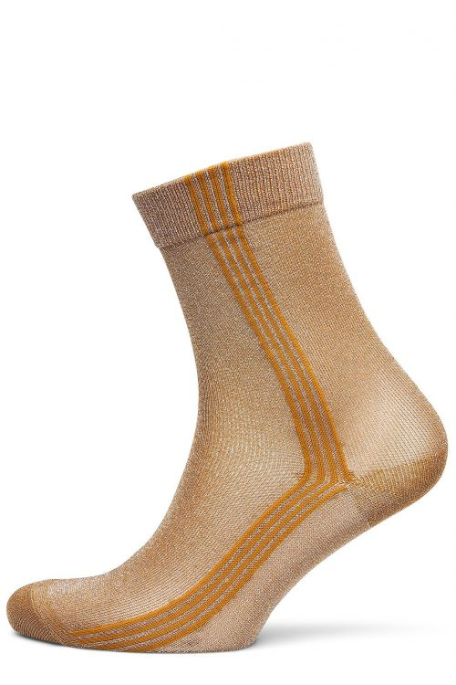 Bronse ankelsokk med stripe 'Violeta' MP Denmark - 79596_4062 52%Polyamide/44%Metallic/4%EA