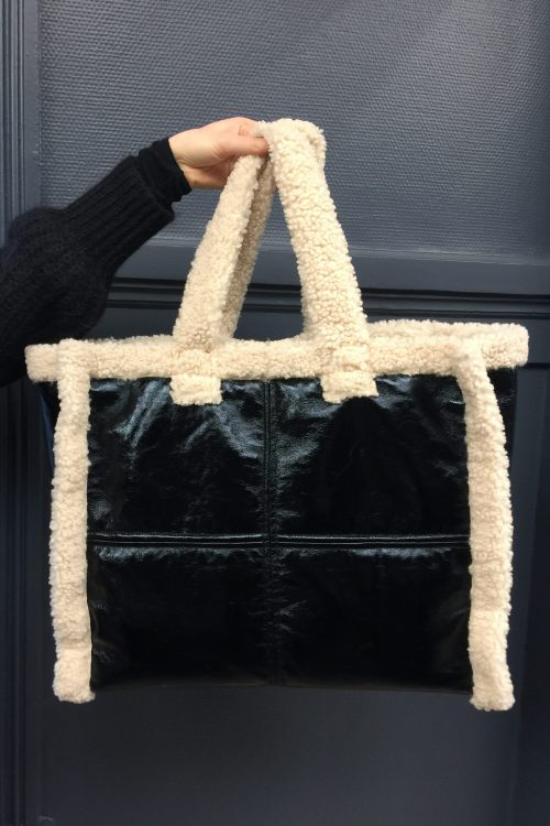 Stor 70talls-ispirert bag Stand - lola shearling bag 60769-8125