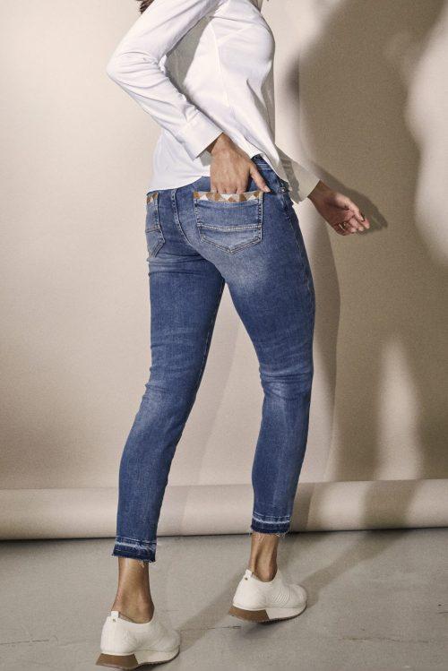 Light blue smal jeans med flott dekor på baklommer Mos Mosh - 131480 sumner decor jeans