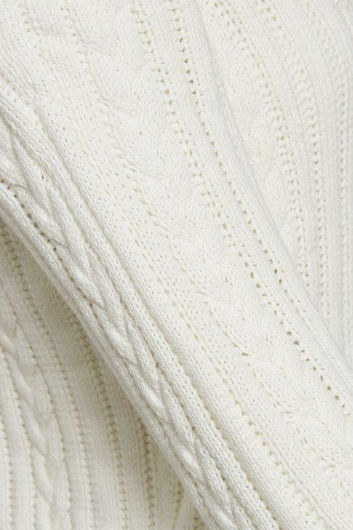 White ribbestrikket organisk bomullsgenser Gestuz - 3733 ravan pullower
