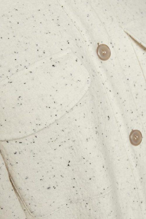 Kremspettet flanellskjorte Gestuz - sadie shirt 10904107