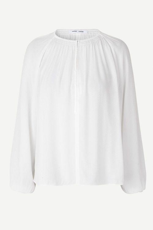 Ecru, marine eller korall viskosebluse Samsøe - 10458 Kaia blouse