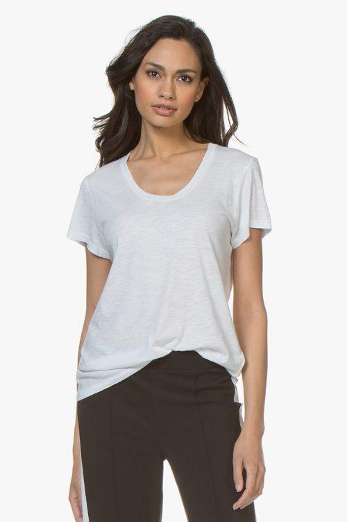 Hvit eller dus rosa bomull/viskose t-shirt American Vintage - jac 48