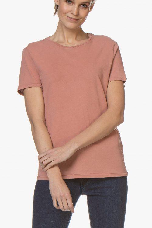 Hvit eller korall 100% organisk bomull t-shirt American Vintage - vegi 54
