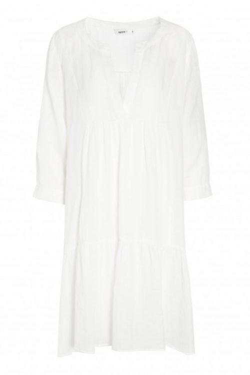Broken white babydoll-aktig ledig ramie kjole Katrin Uri - 643 alba ramie dress