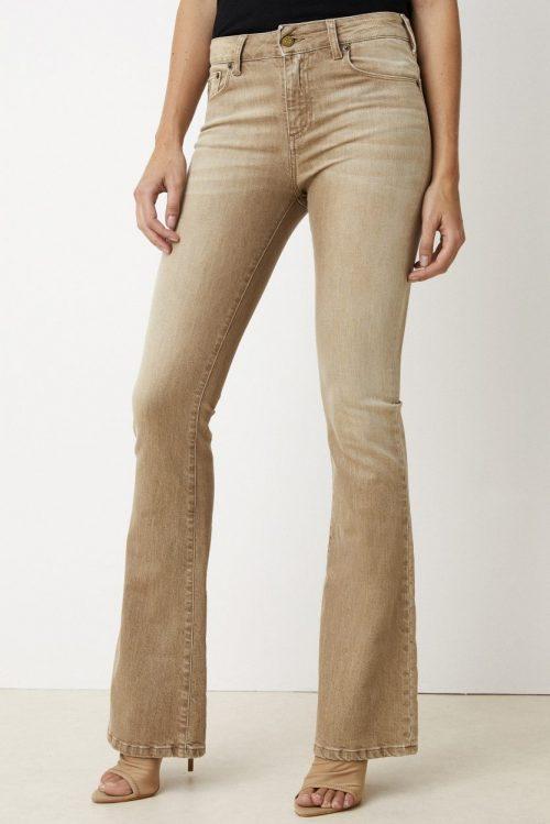 Camel eller olivengrønn flare jeans Lois Jeans - raval 2007-5992 cassidy colour
