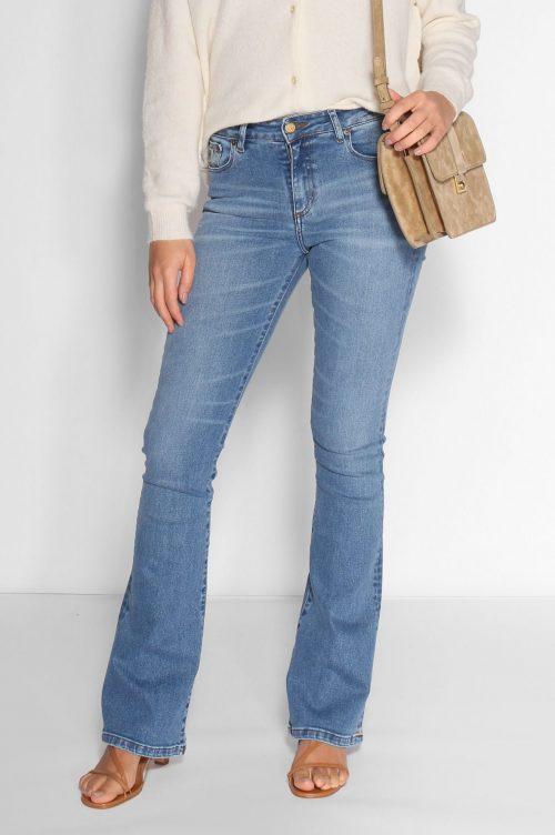 Lys flare jeans i kraftig kvalitet Lois Jeans - raval 2007-6034 harry stone L32 og L34