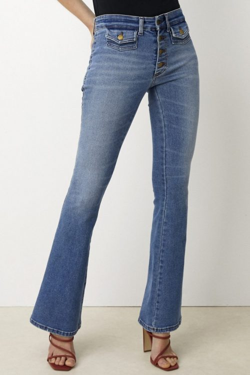 Flare jeans med klafflommer Lois Jeans - yoko 2490-6034 harry stone