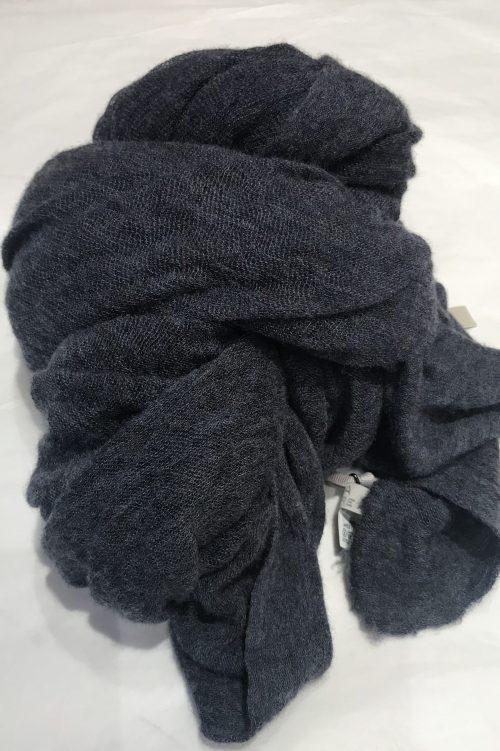 Denim blue elastisk og superlett 'Luxury' 100% italiensk cashmere skjerf Natura Cashmere - luxury scarf 100*160 cm