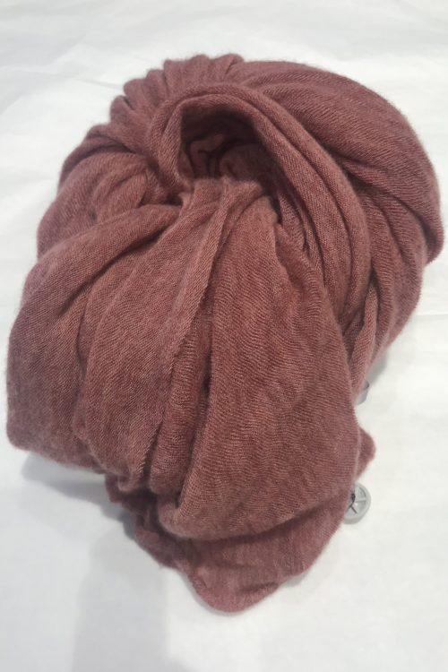 Rose melange elastisk og superlett 'Luxury' 100% italiensk cashmere skjerf Natura Cashmere - luxury scarf 100*160 cm