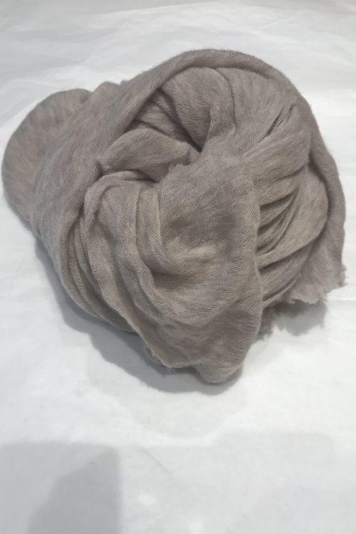 Beige melange elastisk og superlett 'Luxury' 100% italiensk cashmere skjerf Natura Cashmere - luxury scarf 100*160 cm