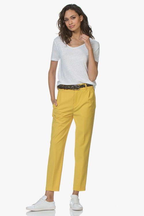 Hvit 100% lin t-shirt American Vintage - lolo15