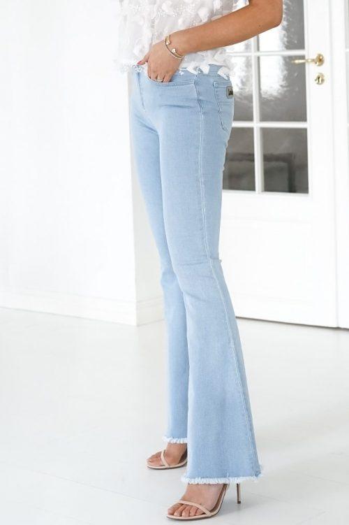 Lys lys denim flare jeans med ekstra sleng og råkant Lois Jeans - rafaela edge 2481-6020 - kobu sapphire L32 og L34