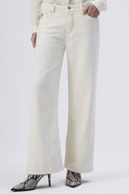 Star white eller dus rosa cropped linbukse Lois Jeans - new culotte 2308-5798 linen flow L32
