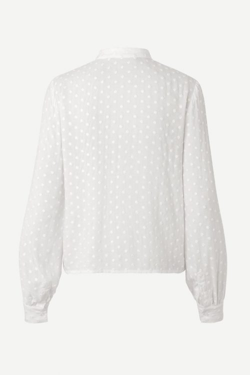 Hvit jacquard mønstret viskose bluse Samsøe - Jossie shirt 12687