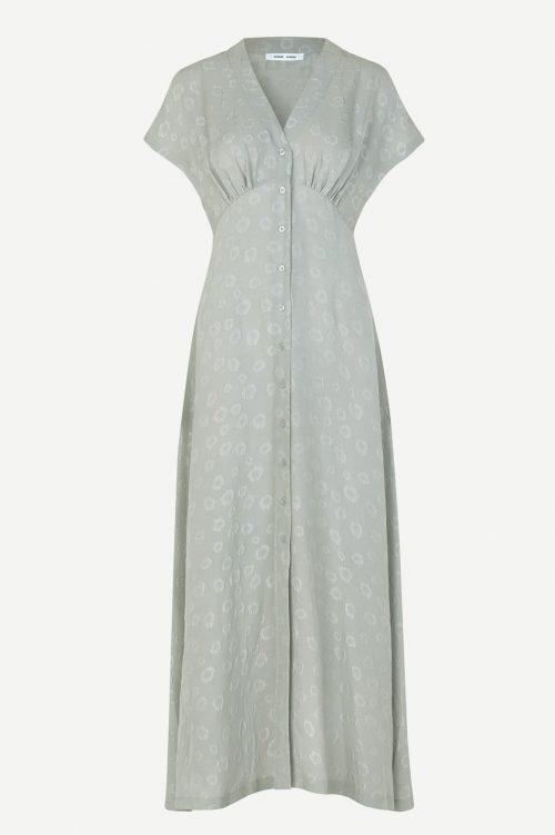 Lang lindegrønn kjole Samsøe - 12688 Valerie long dress
