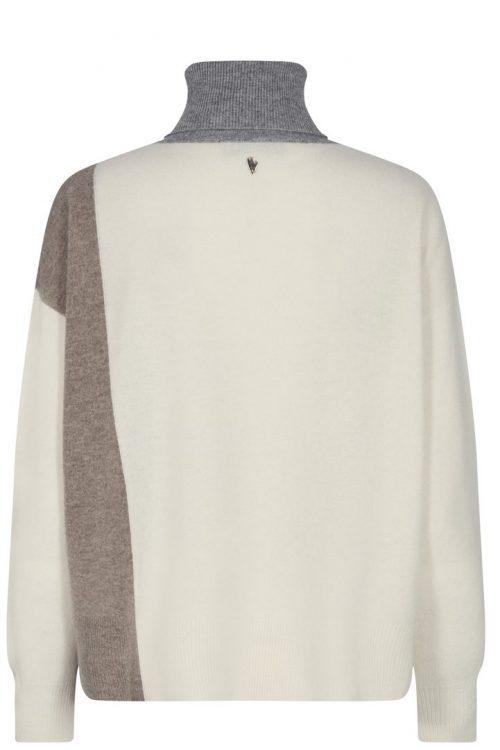 Fantastisk 100% ull genser med polohals med mønster Mos Mosh - 134550 Layla Rollneck Knit