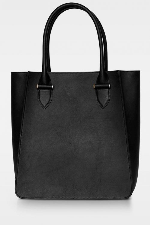 Sort stor corporate shopper (plass til pc) i vegetal skinnkvalitet Decadent Copenhagen - 236 phoebe big tote vegital black