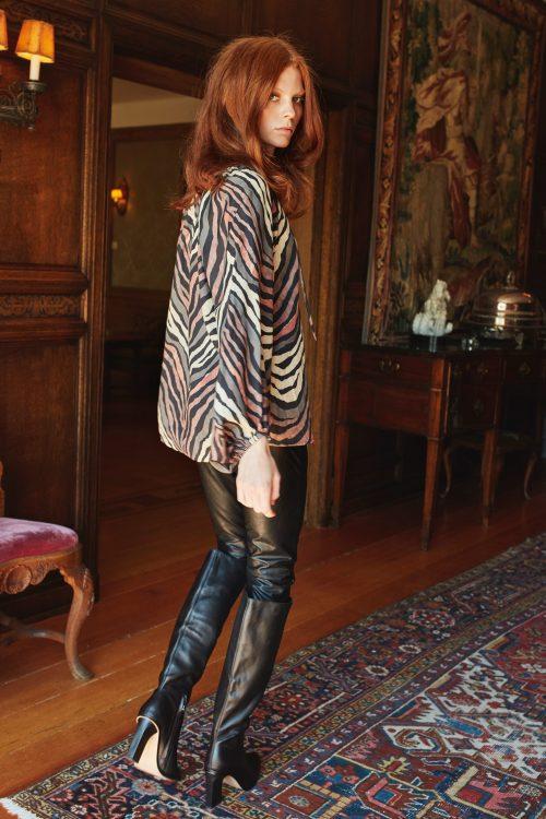 Sort vegan 'skinnbukse' Katrin Uri - 101 bond fitted trouser