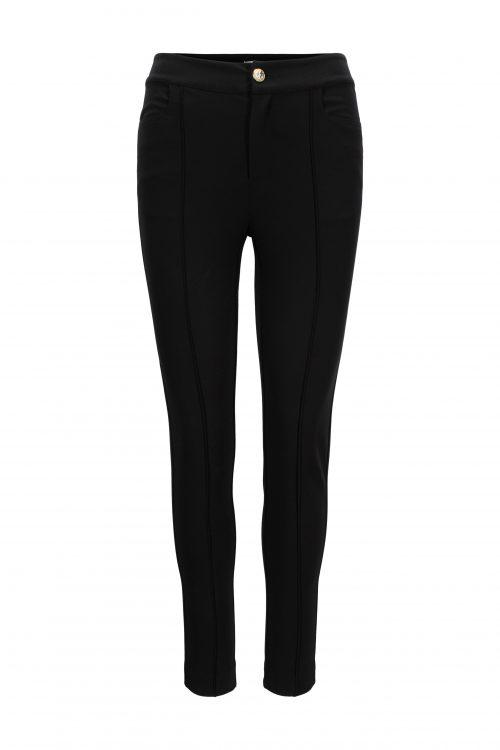 Sort smal technobukse med langsgående søm Katrin Uri - 110 highway fitted trouser