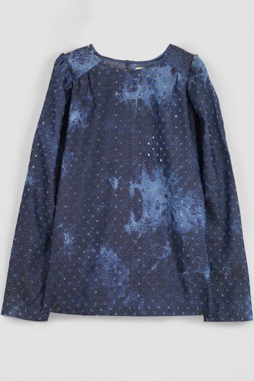 Indigo bomullmiks batikk-bluse Munthe - lullaby 1001