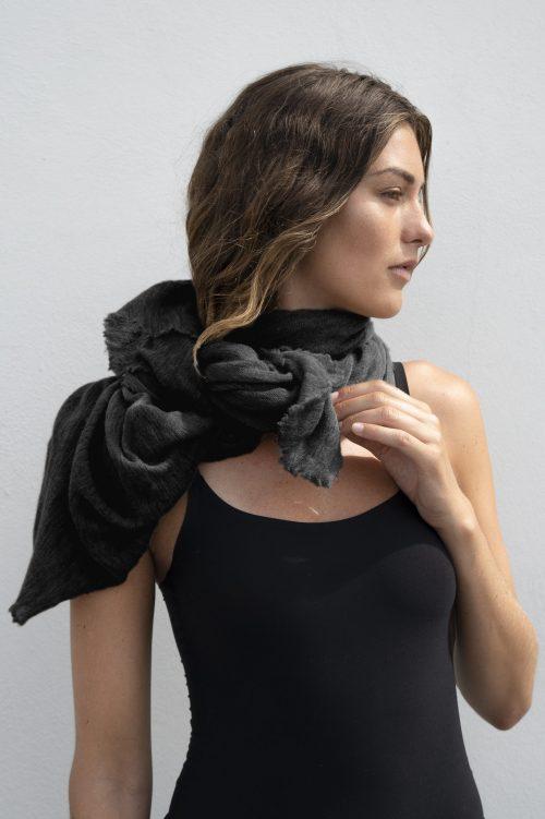 Black cashmere skjerf Natura Cashmere - luxury black