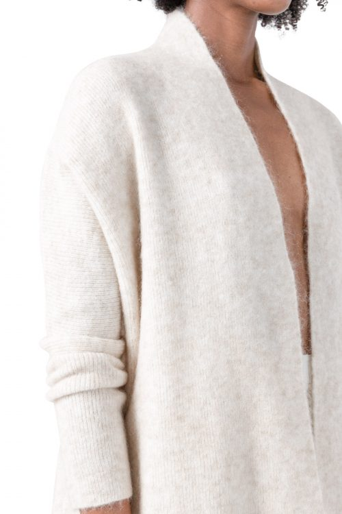 Sort eller indigoblå kid mohair cardigan Cathrine Hammel - 1562 soft short shawl cardigan