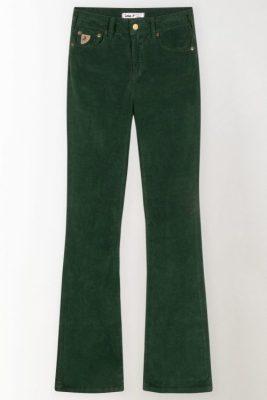 Dusty rose, skoggrønn, rustrød eller brun micro cord flare bukse Lois - 2007-6200 micro vintage L30/L32/L34