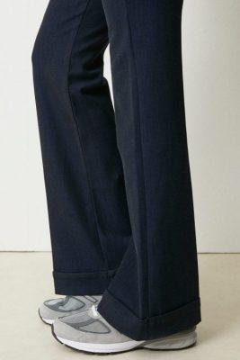 Sort, blåsort eller gråmelert dressbukse MED eller UTEN oppbrett Lois - Silvia