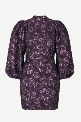 Dyp lilla eller sort trendy selskapskjole med partyfaktor Samsøe - 12905 harriet short dress