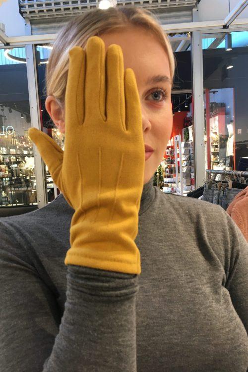 Taupebrun, cognac, gul, blå, sort og gammelrosa hansker med IPhone-touch Bæltekompagniet - Vante 10
