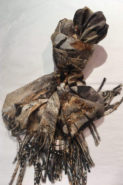 Mønstret skjerf Bæltekompagniet - stola 200 dobbelt face törklædde