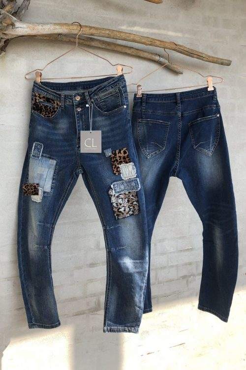 'Leo patch' jeans Cabana Living - DY-712 leo patch